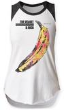 Womans: Velvet Underground- Mottled Banana Raglan Tank T-Shirt