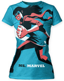 Juniors: Marvel: Michael Cho- Ms. Marvel Big Print T-shirts
