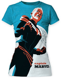 Juniors: Marvel: Michael Cho- Captain Marvel Big Print T-shirts