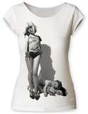 Juniors: Debbie Harry- Vulture Scoop Neck T-Shirt