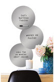 Silver 3 Dots Dry Erase Wall Decal Decalques de parede