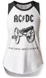 Womans: AC/DC- For Those About To Rock Raglan Tank Buzo