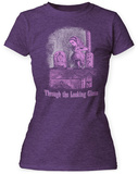 Juniors: Alice In Wonderland- Vintage Through The Looking Glass T-Shirt