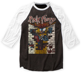Raglan: Pink Floyd- The Wall Character Escape Distressed Raglans