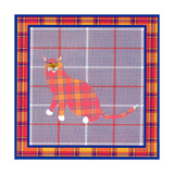 Sneakers Plaid Pattern Poster by David Sheskin
