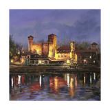 Il Castello Medioevale di Notte Prints by Guido Borelli