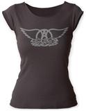 Juniors: Aerosmith- Logo Scoop Neck Koszulki
