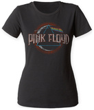 Juniors: Pink Floyd- Distreesed The Dark Side Of The Moon Seal Shirts