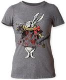 Juniors: Alice In Wonderland- White Rabbit With Trumpet T-shirty