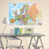 Europe Dry Erase Map Wall Decal Wall Decal