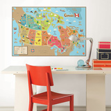 Kids Canada Dry Erase Map Wall Decal Wall Decal