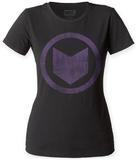 Juniors: Hawkeye- Distressed Logo T-Shirt