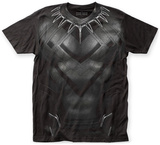 Captain America: Civil War- Black Panther Costume Tee T-shirts