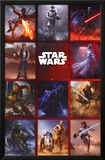 Star Wars- Characters Strike A Pose Print