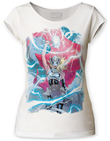 Juniors: Thor-Calling The Lightning Scoop Neck T-Shirt