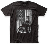 Captain America: Civil War- Black & White Patriotism T-shirts