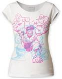 Juniors: The Incredible Hulk- Crouch Charge Scoop Neck T-shirts