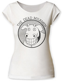 Juniors: Dead Milkmen- Smiling Cow Logo Scoop Neck T-Shirt