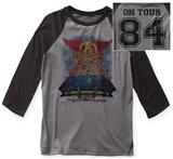 Aerosmith- Stadium Tour '84 Raglan (Front/Back) - T-shirt