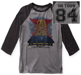 Aerosmith- Stadium Tour '84 Raglan (Front/Back) T-shirts
