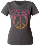 Juniors: Janis Joplin- Peace Love Rock'Nroll T-Shirt