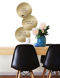 Gold 3 Dots Dry Erase Wall Decal Wall Decal