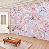 Pink Blossoms Wall Mural Wallpaper Mural