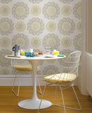 Suzani Floral Peel & Stick Wallpaper Selvklæbende tapet (aftageligt)