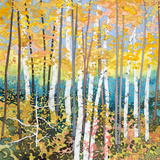 Mystery of Trees V Wood Print by Sharon Pitts