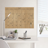 Faux Hardwood Dry Erase Calendar Wall Decal