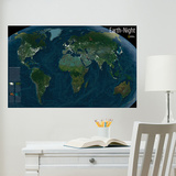 National Geographic Earth at Night Glow in the Dark Wall Decal Decalques de parede