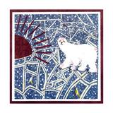 Polar Bear Prints by David Sheskin
