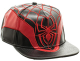 Spiderman- Web Faux Leather Snapback Hat