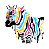 ZEBRA COLOURS Posters by  Lapis