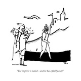 """""""The emperor is naked—and he has a flabby butt!"""" - New Yorker Cartoon Premium Giclee Print by Liana Finck"""