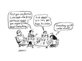 A family discusses politics - Cartoon Premium Giclee Print by David Sipress