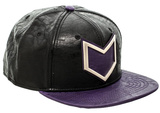 Hawkeye- Faux Leather Snapback Hat