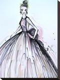 Pink Elegance Impressão em tela esticada por Cara Francis