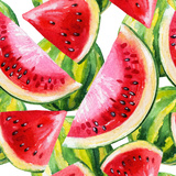 Watercolor Painting with Watermelon Láminas por  tanycya