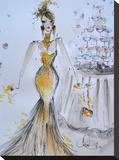 Champagne Bubbles Impressão em tela esticada por Cara Francis