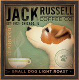 Jack Russel Coffee Co. Print by Stephen Fowler