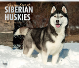 For the Love of Siberian Huskies Deluxe - 2017 Calendar Calendriers