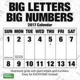 Big Letters Big Numbers - 2017 Calendar Calendars