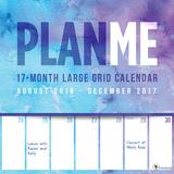 PlanMe Big Grid 17-Month - 2017 Calendar Calendriers
