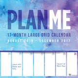 PlanMe Big Grid 17-Month - 2017 Calendar Calendars