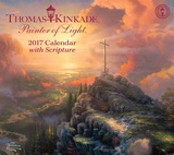 Thomas Kinkade Painter of Light with Scripture Deluxe - 2017 Calendar Calendars