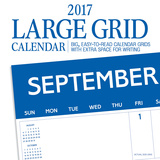 Large Grid Blue - 2017 Calendar Calendars