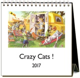 Crazy Cats - 2017 Easel Calendar Calendars
