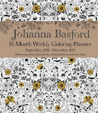 Johanna Basford 2016-17 16-Month Coloring Weekly Planner Kalendarze
