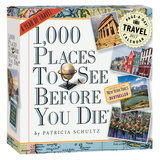 1,000 Places To See Before You Die Color Page-A-Day - 2017 Boxed Calendar Calendars